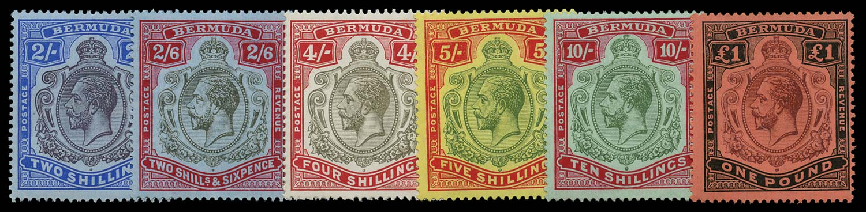 BERMUDA 1918  SG51b/55 Mint