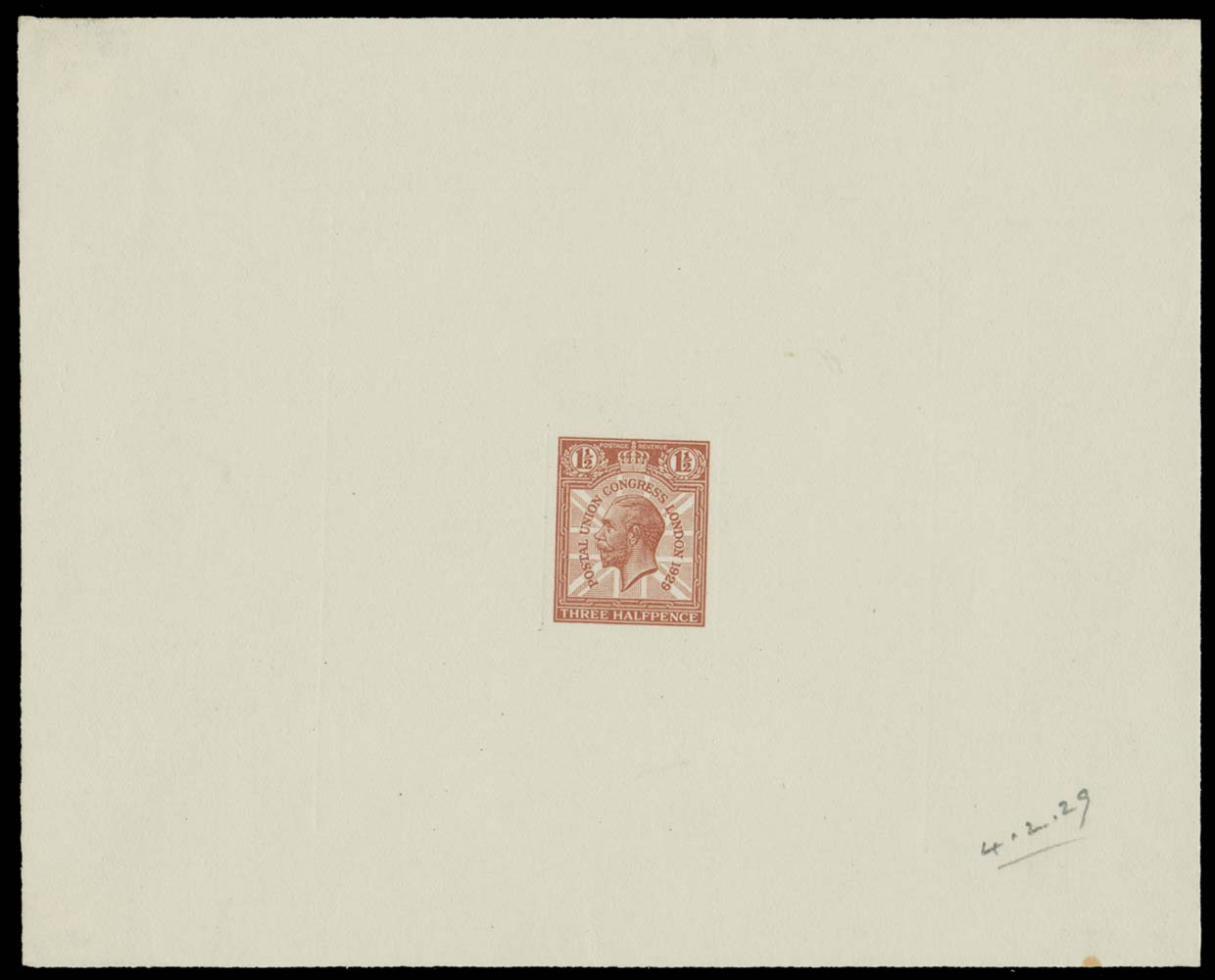 GB 1929  SG436var Proof