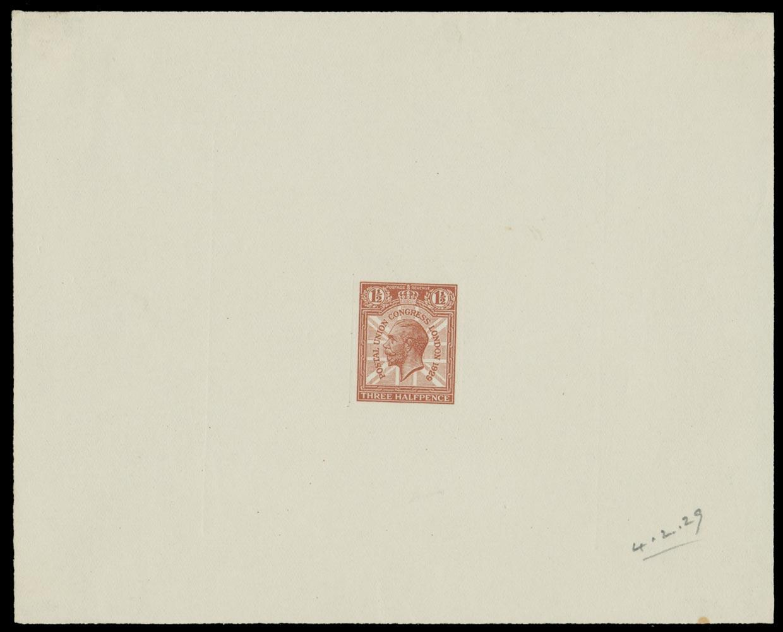 GB 1929  SG436var Proof