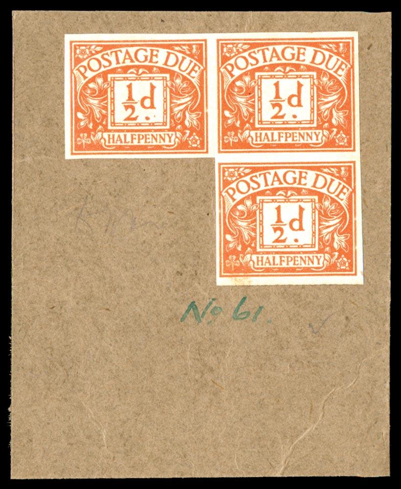 GB 1923  SGD18var Postage Due colour trial