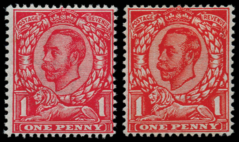 GB 1911  SG342var Mint