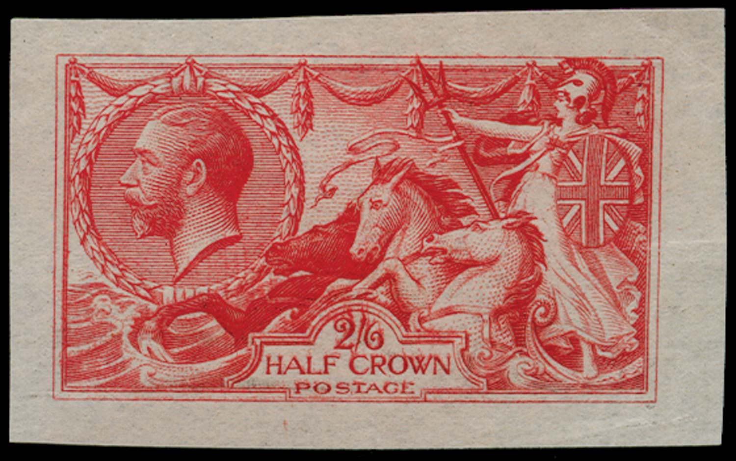 GB 1913  SG399var Plate Proof in red