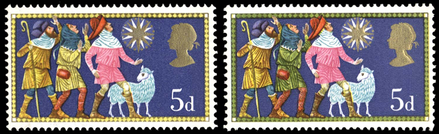GB 1969  SG813d Mint green omitted