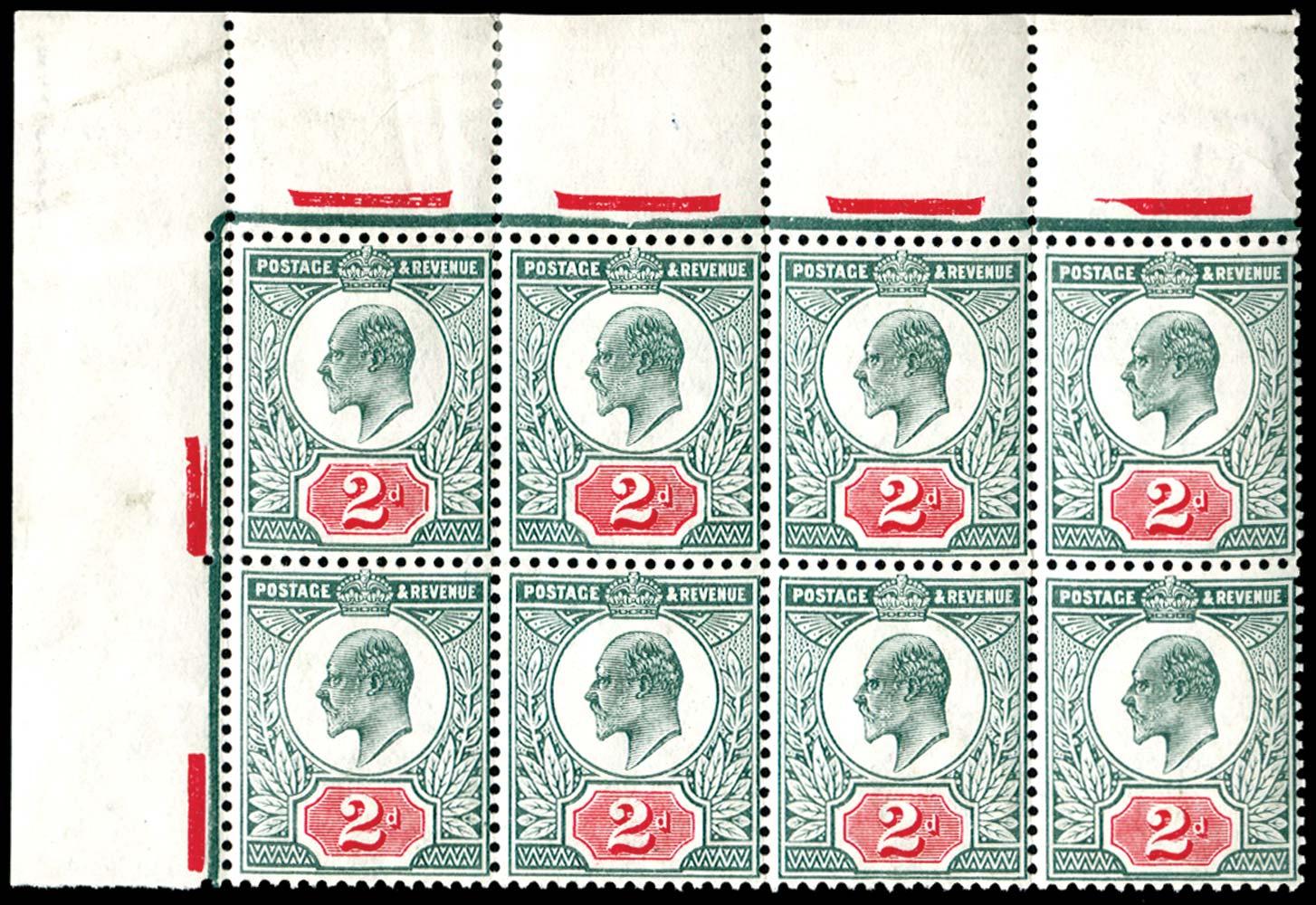 GB 1910  SG228var Mint
