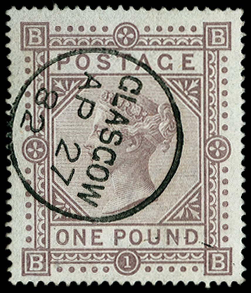 GB 1878  SG129 Pl.1 Used