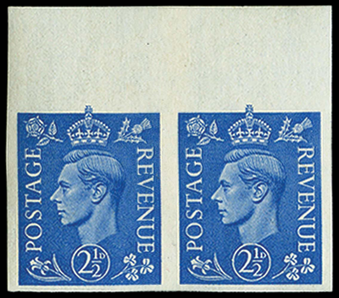 GB 1941  SG489c Mint Imperf pair