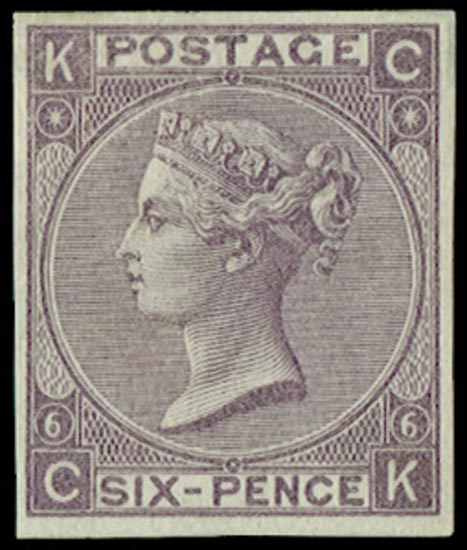 GB 1867  SG96var Pl.6 Mint
