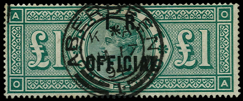GB 1892  SGO16 Official
