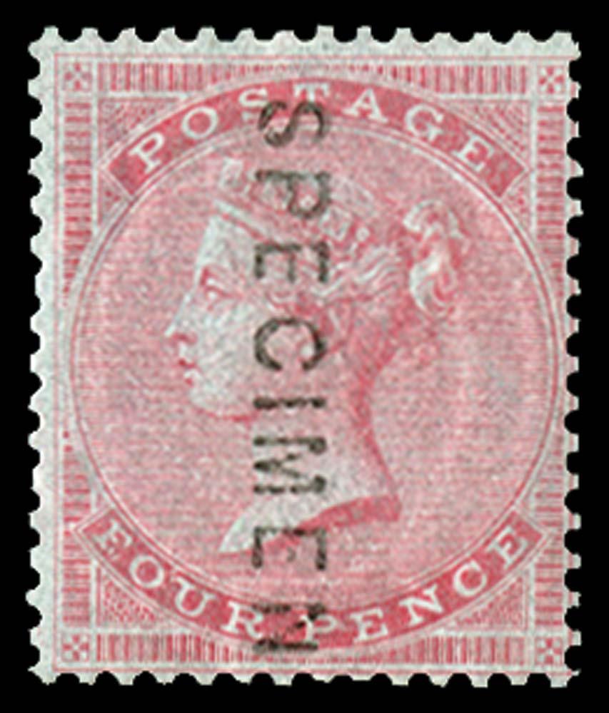 GB 1856  SG63s Specimen