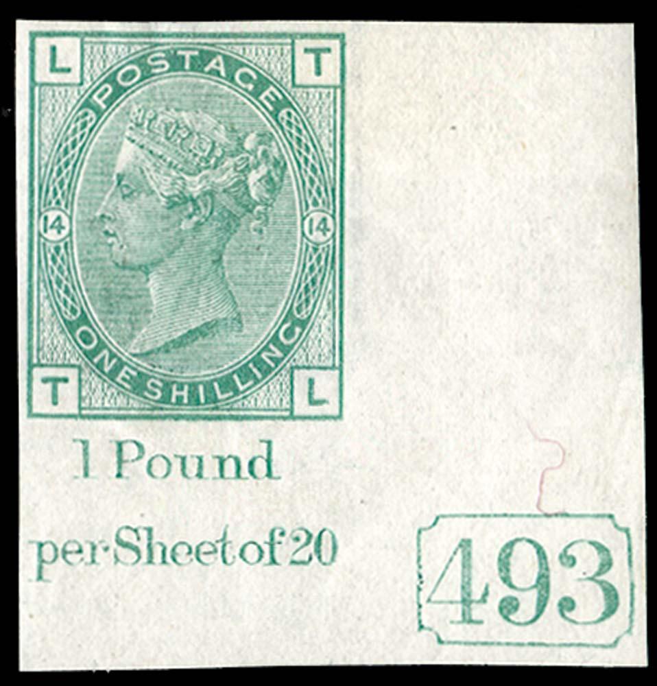 GB 1876  SG150var Pl.14 Mint
