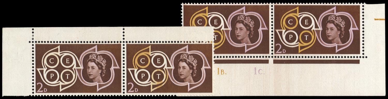GB 1961  SG626a Mint orange omitted.
