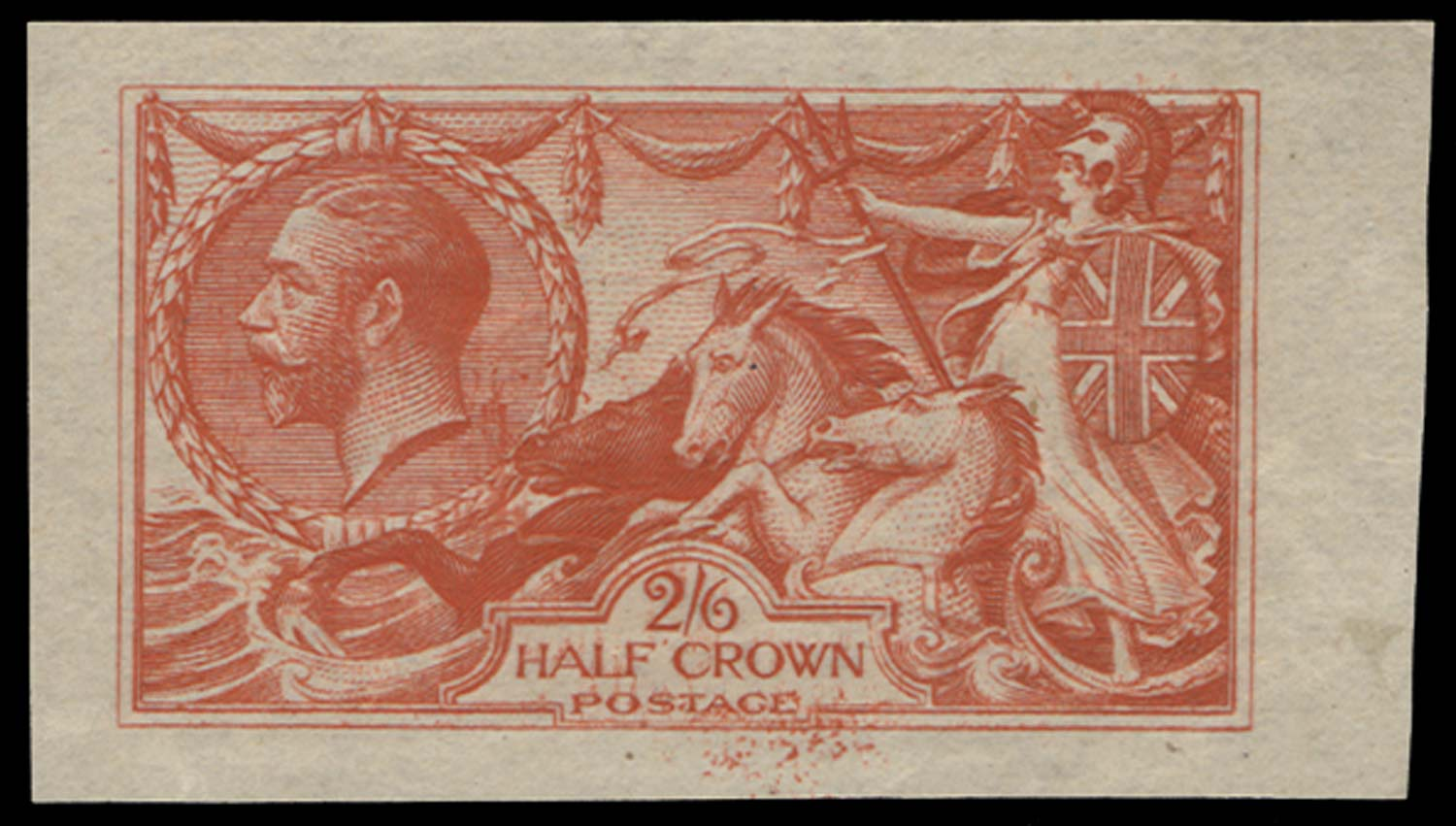 GB 1913  SG399var Colour Trial in pale vermilion