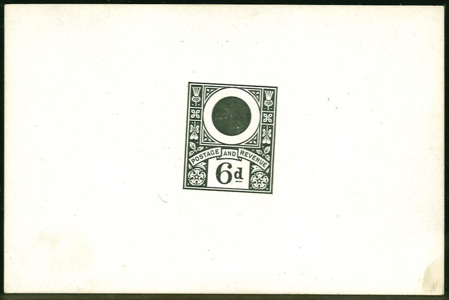 GB 1884  SG208var Proof Embossing essay.