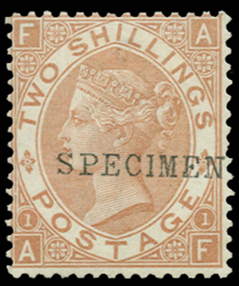GB 1880  SG121s Pl.1 Specimen
