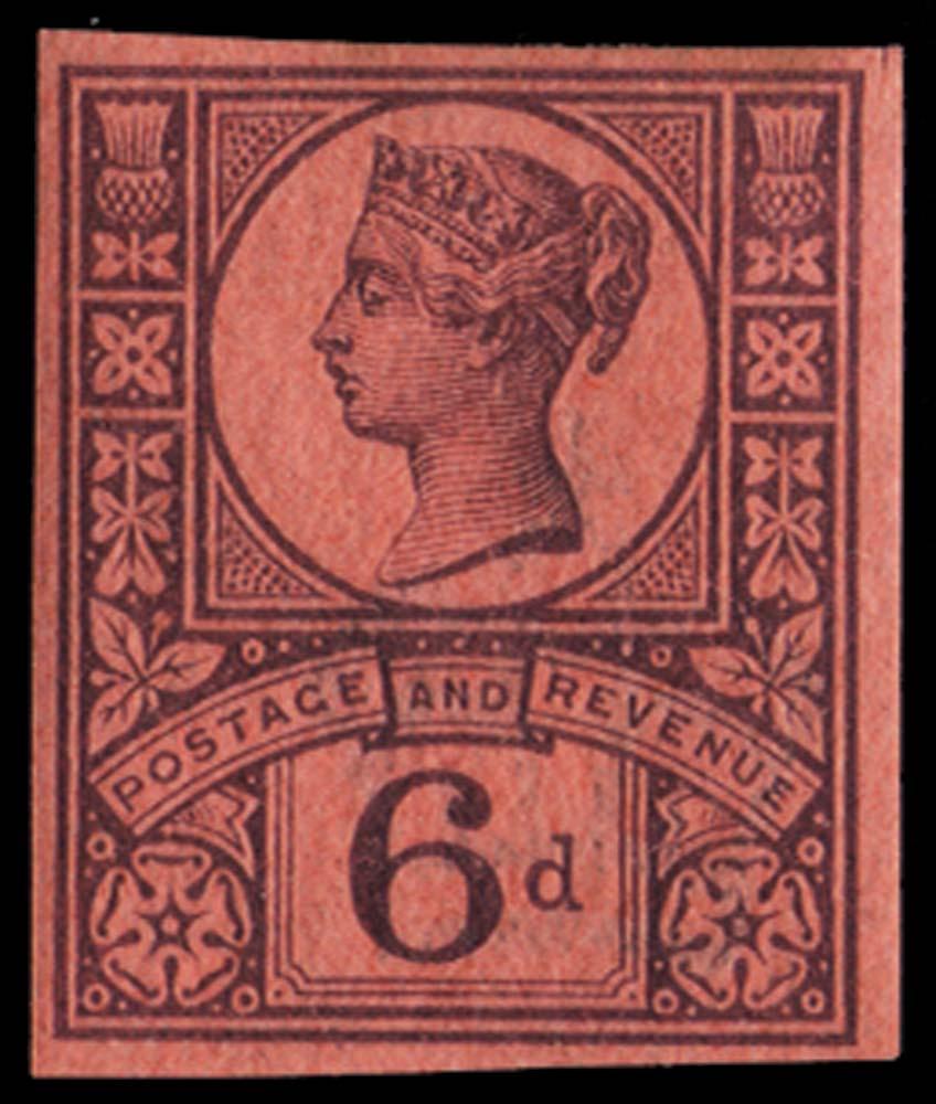GB 1887  SG208var Mint Imprimatur.