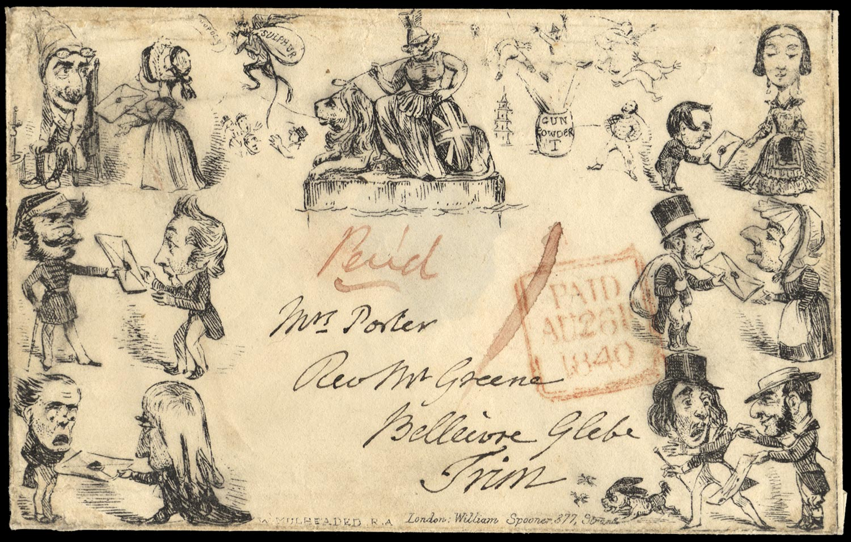 GB 1840  SG. Cover - Spooner No.2 Envelope.