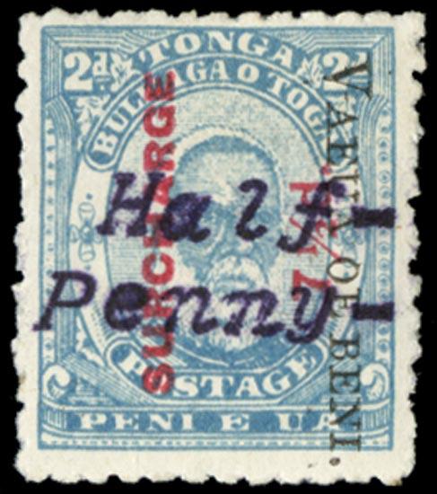 TONGA 1896  SG37Ap Mint