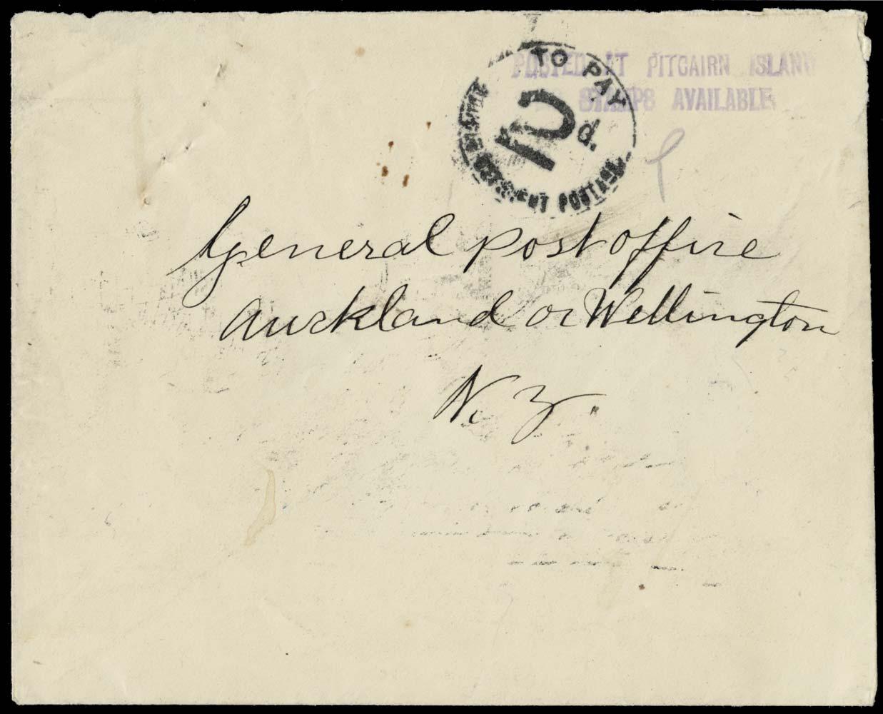 PITCAIRN ISLAND 1926  SGC3 Cover