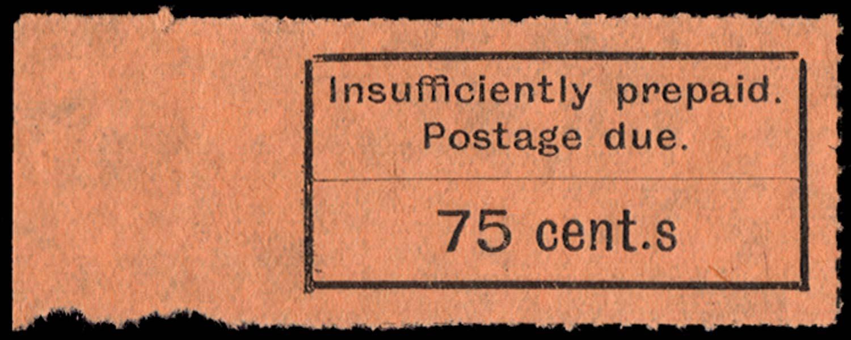 ZANZIBAR 1926  SGD17a Postage Due