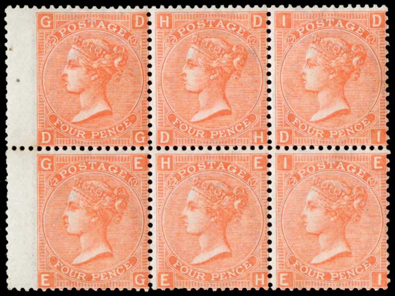 GB 1869  SG94 Pl.12 Mint