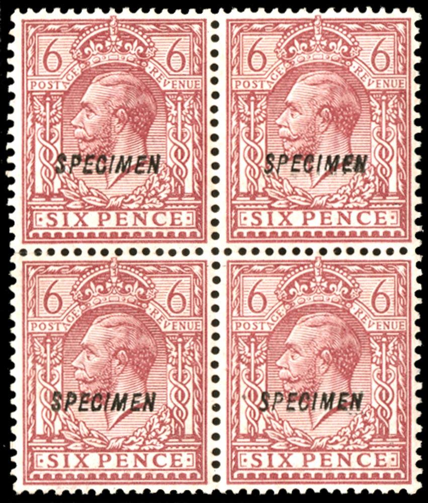 GB 1913  SG385s Specimen