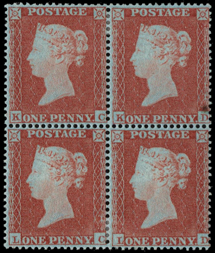 GB 1854  SG17 Pl.181 Mint