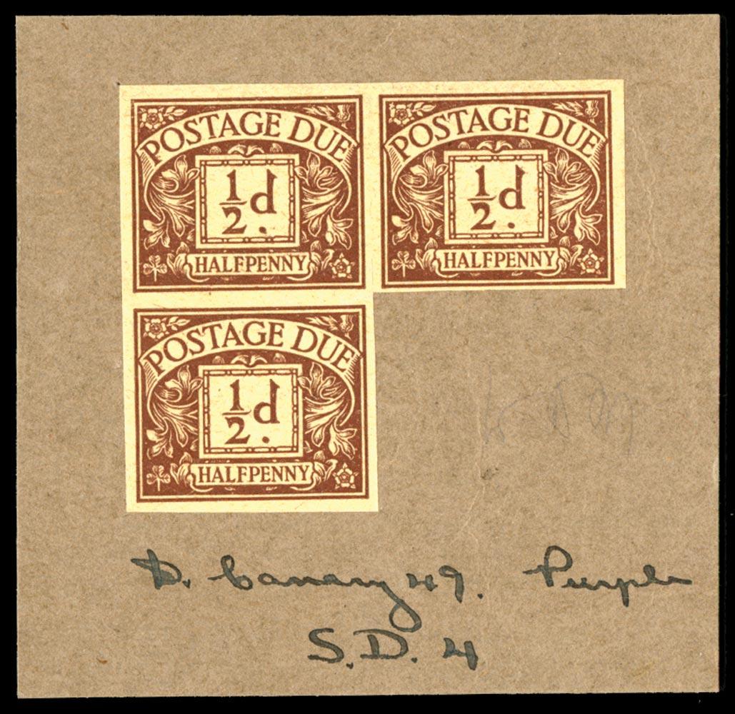 GB 1924  SGD18var Postage Due