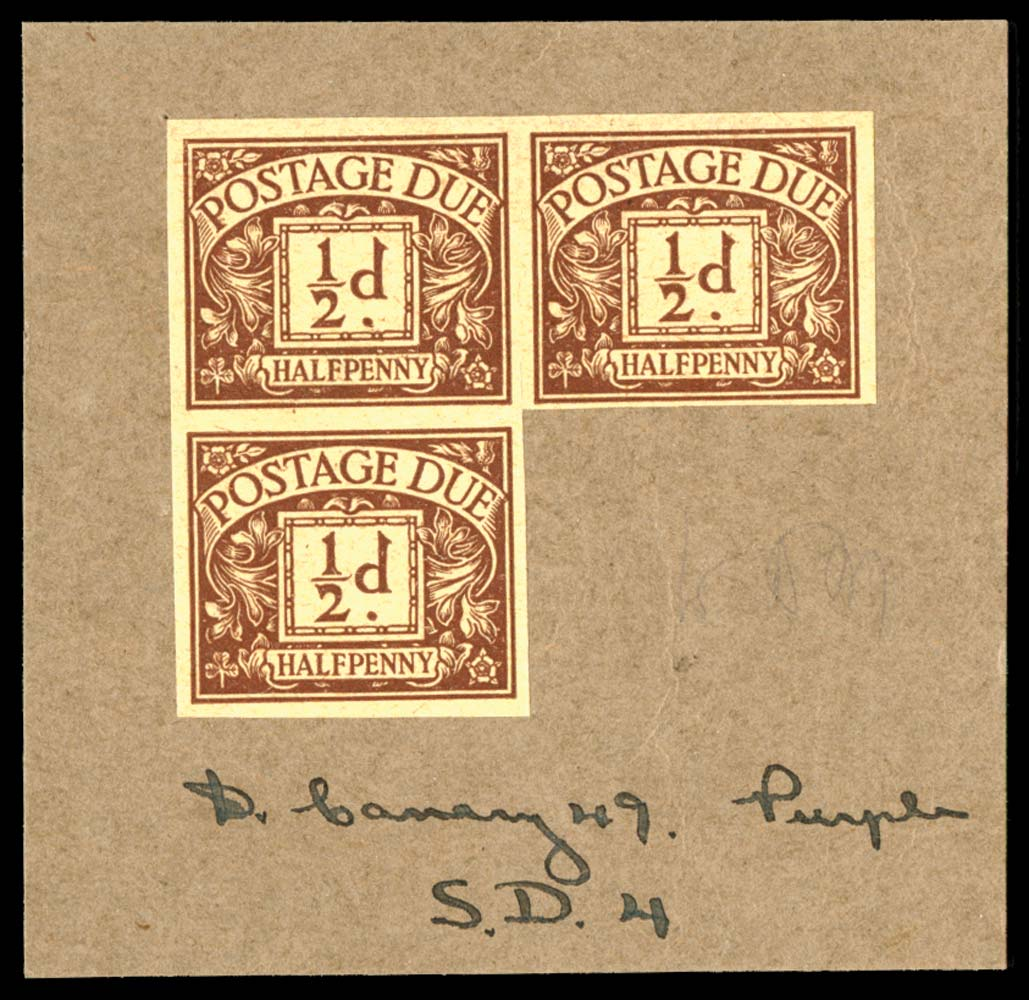GB 1924  SGD18var Postage Due