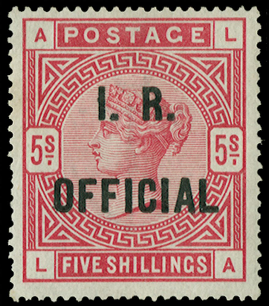 GB 1890  SGO9b Official blue-black overprint.