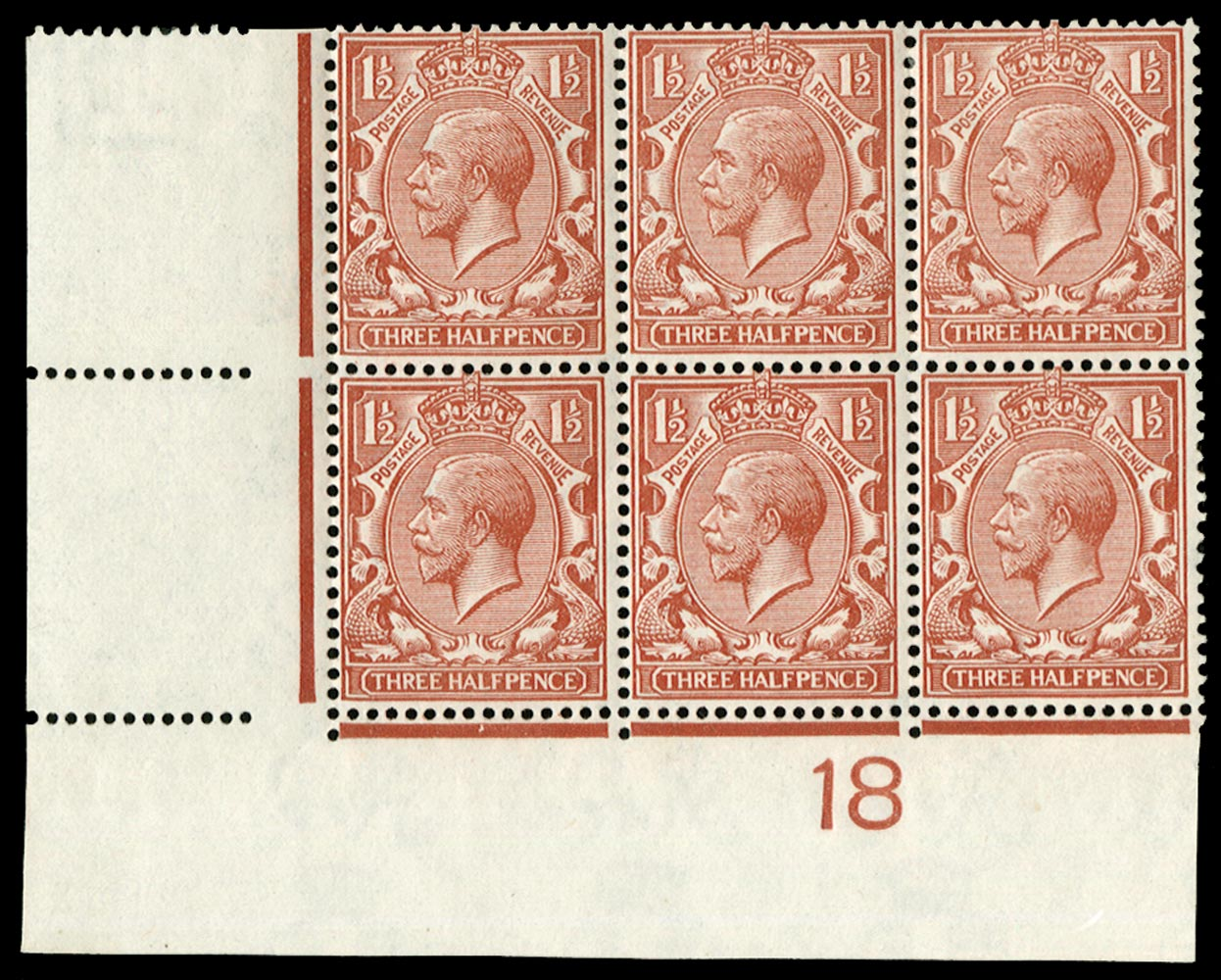 GB 1918  SG362var Mint