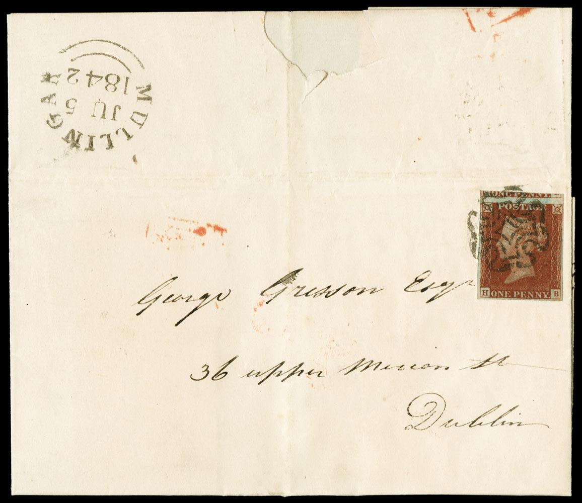 GB 1841  SG8 Pl.13 Cover Mullingar MC