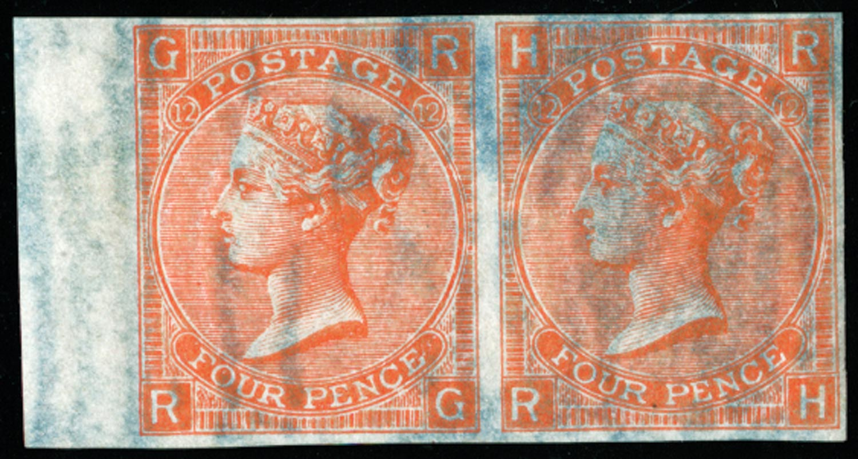 GB 1870  SG94var Pl.12 Mint (Dr. Perkins blued paper).