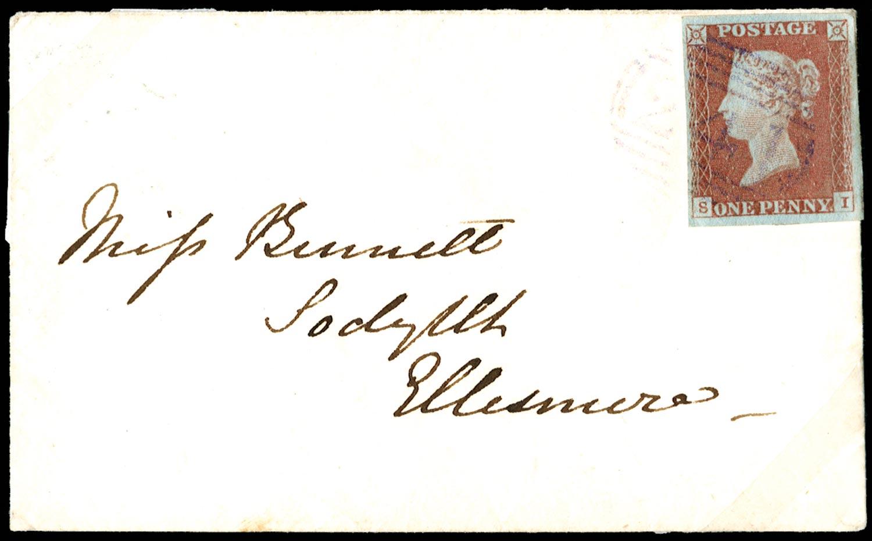 GB 1841  SG8 Pl.86 Cover Violet Denbigh