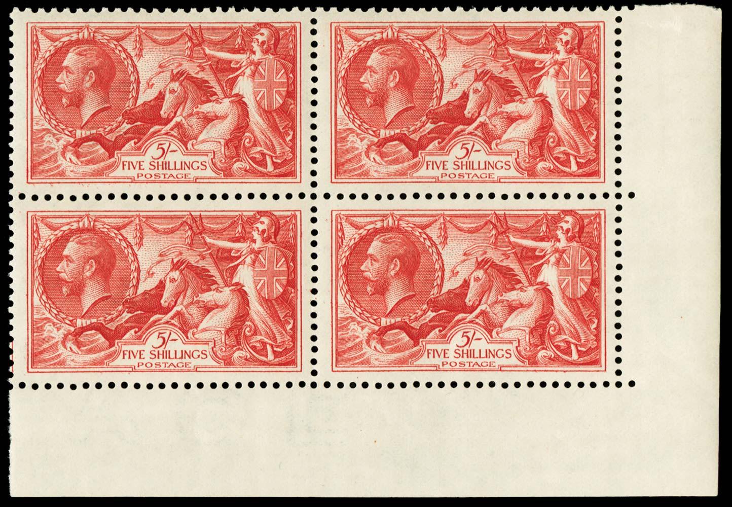 GB 1934  SG451 Mint corner marginal block of four