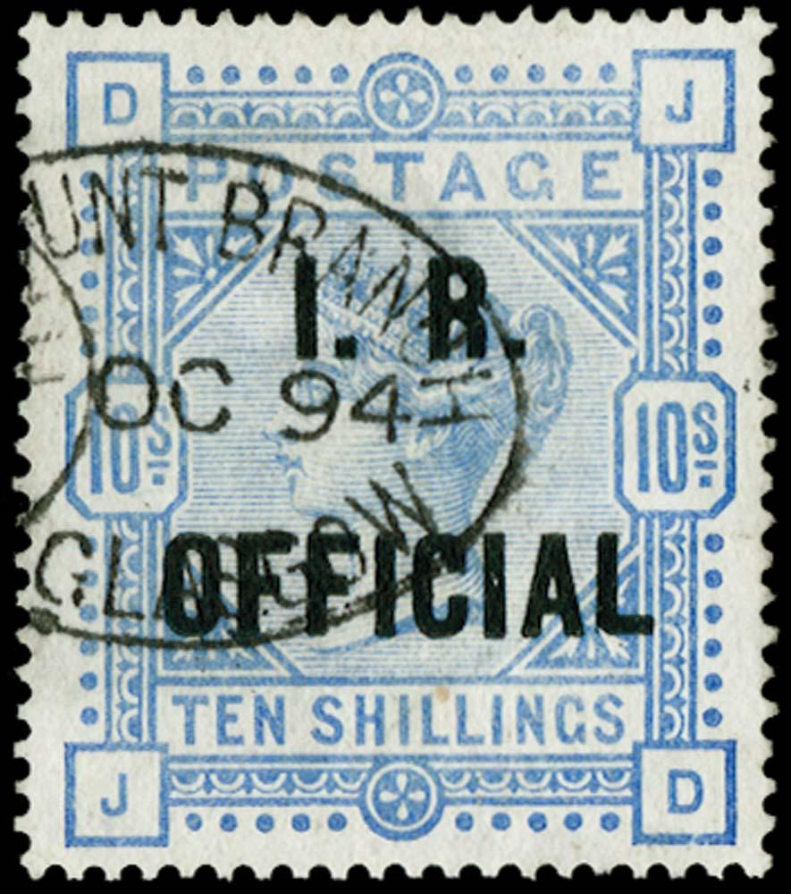 GB 1890  SGO10 Official
