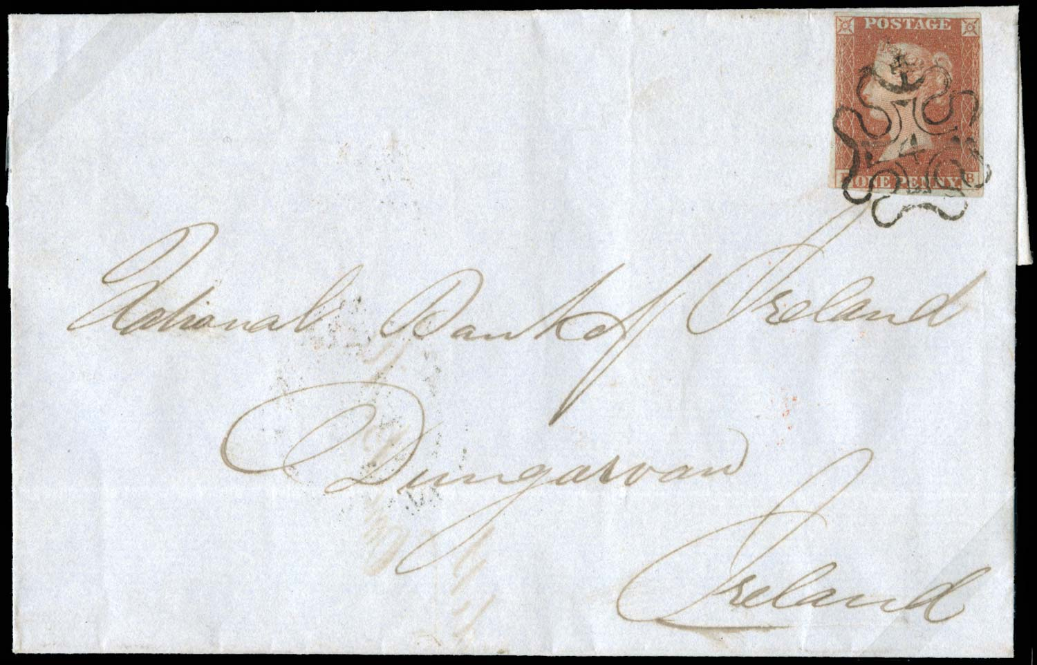 GB 1841  SG8m Pl.31 Cover with London 4 MC.