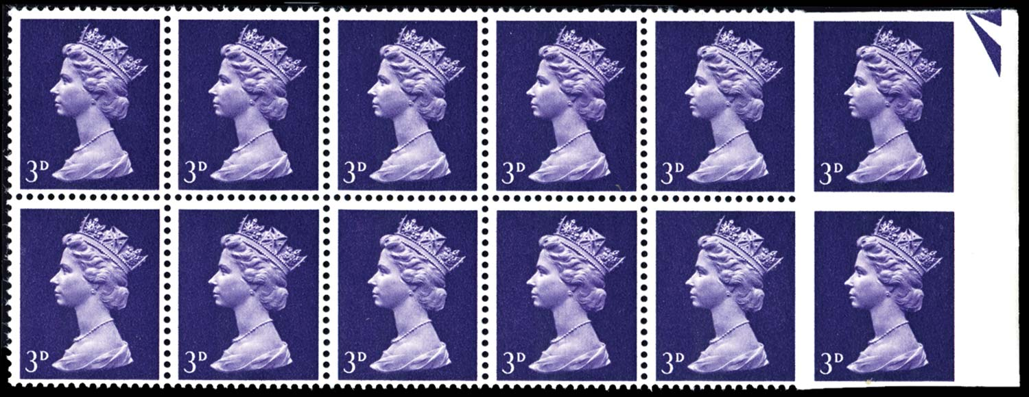 GB 1967  SG729a Mint Imperforate pair