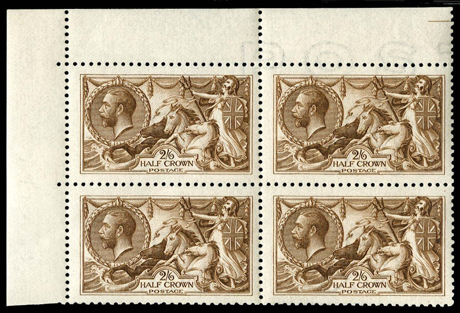 GB 1915  SG405 Mint corner marginal block of four
