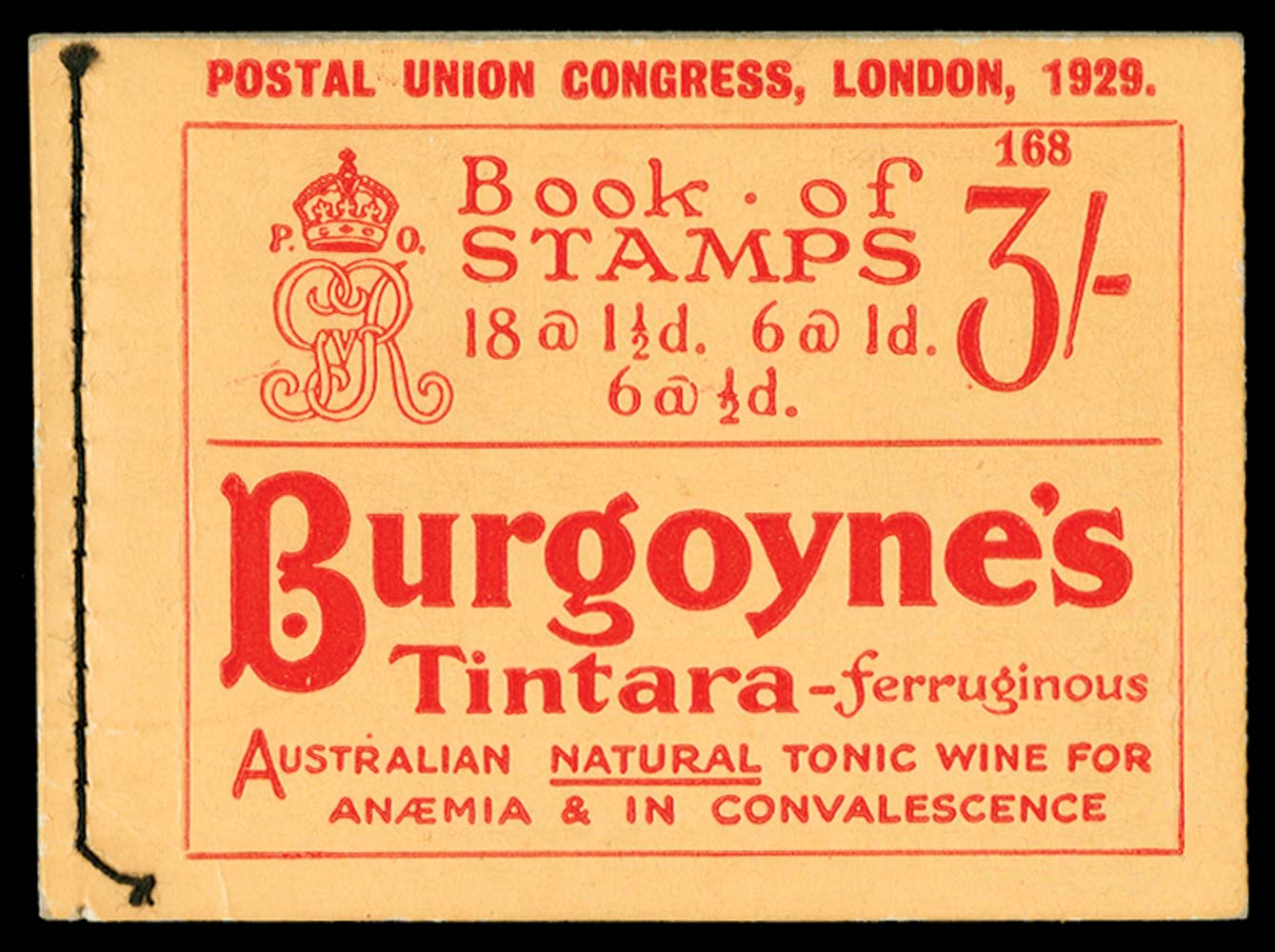GB 1929  SGBB25 Booklet (Edition 168)