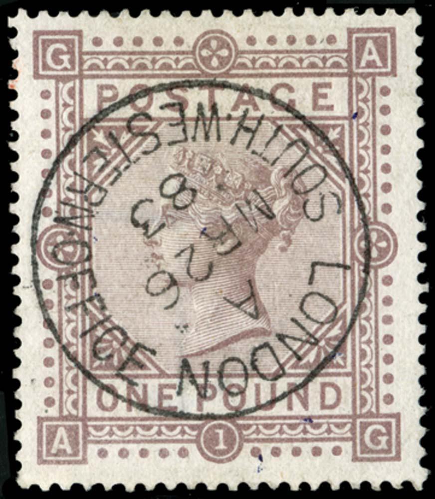 GB 1882  SG136 Pl.1 Used