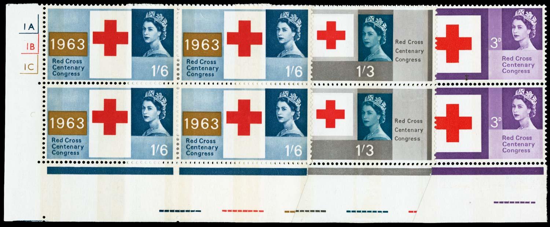 GB 1963  SG642/4p Mint