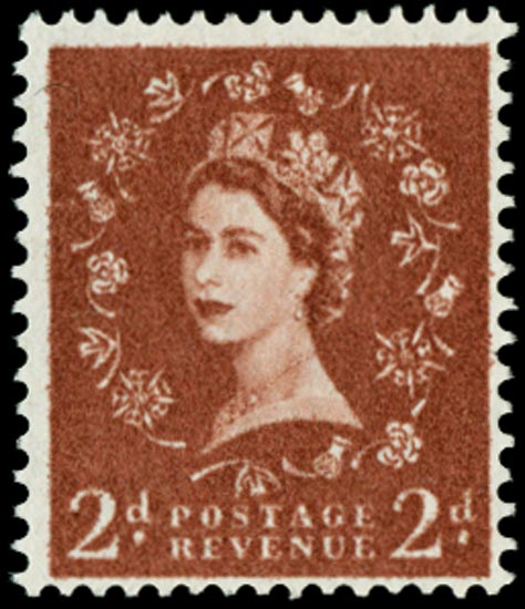 GB 1958  SG573var Mint