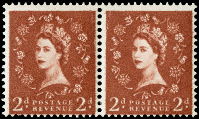 """GB 1958  SG573var Mint """"Dollis Hill Phosphor Trial"""" all over yellow phosphor"""