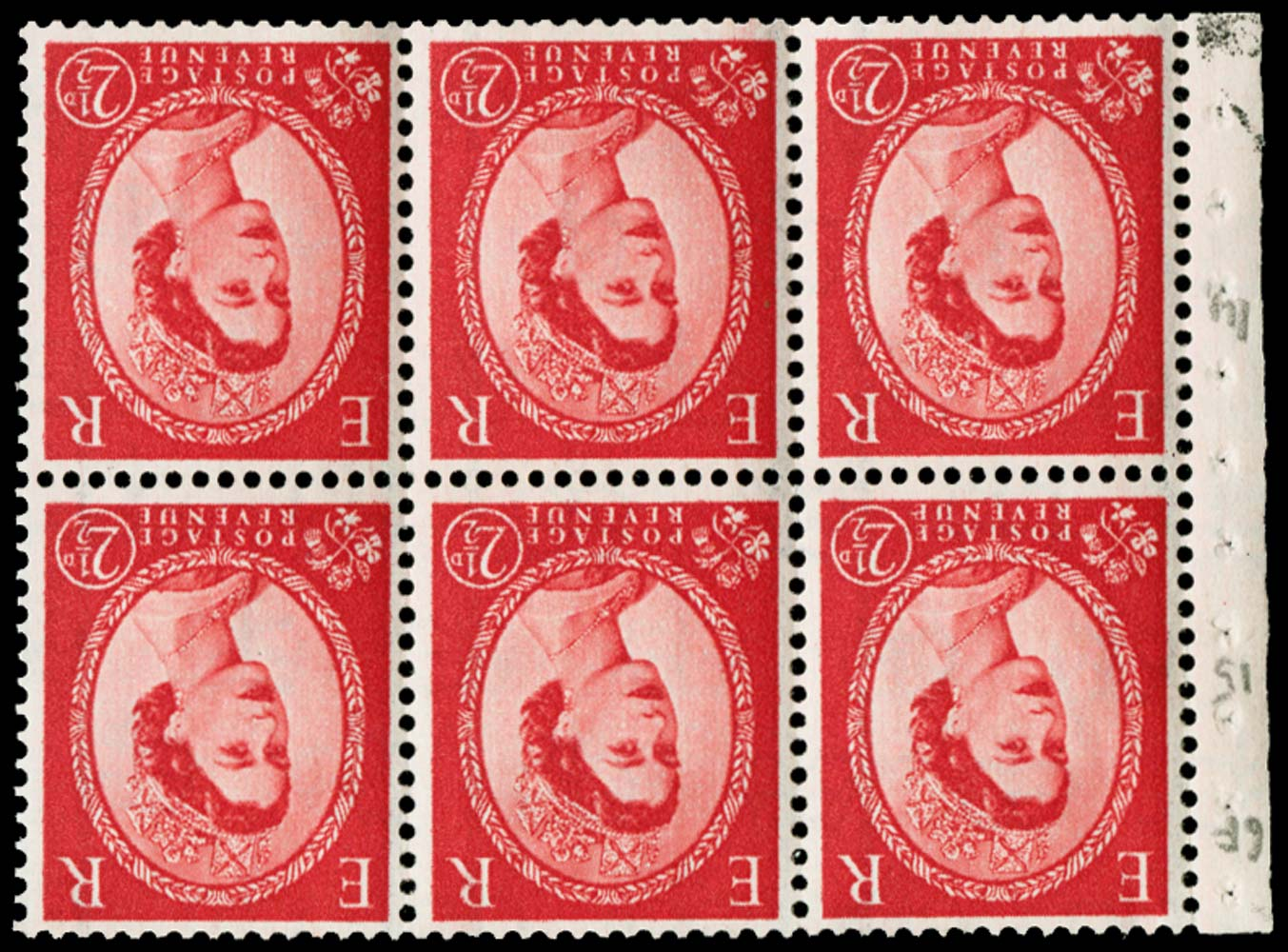 GB 1959  SG591wi Booklet pane