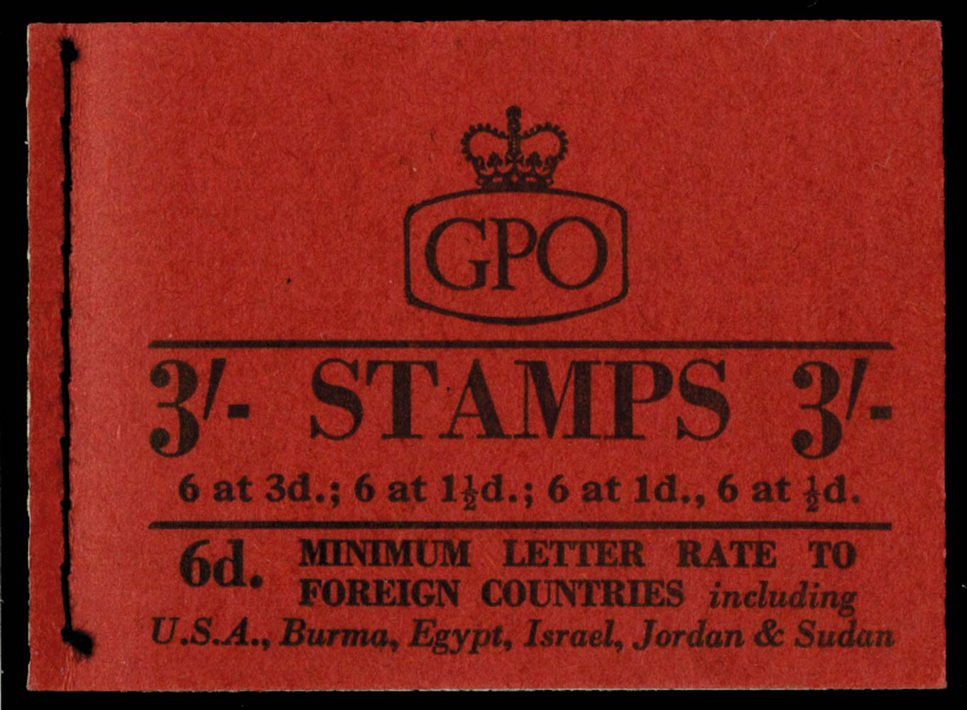 GB 1959  SGM13g Booklet