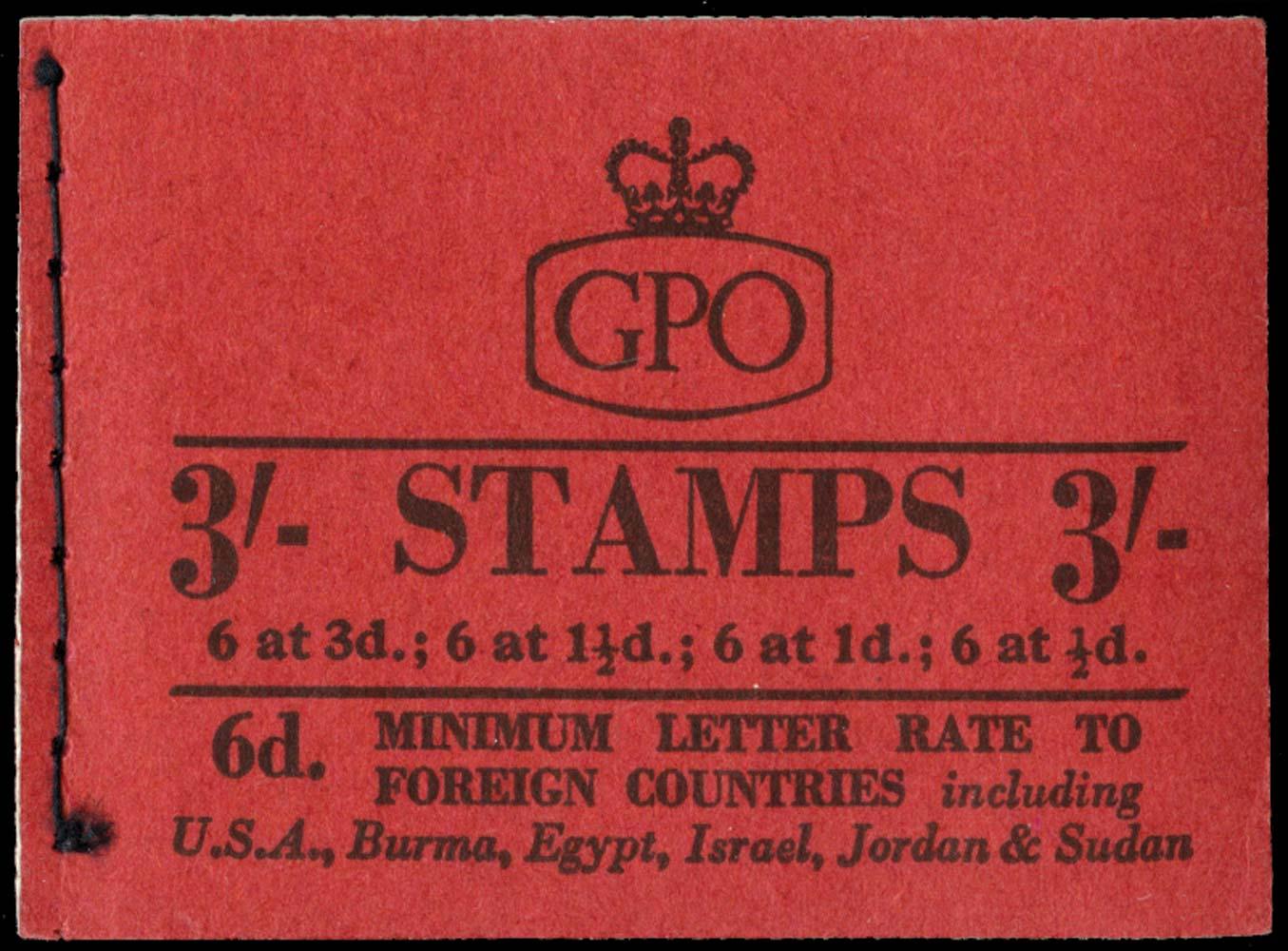 GB 1959  SGM14g Booklet