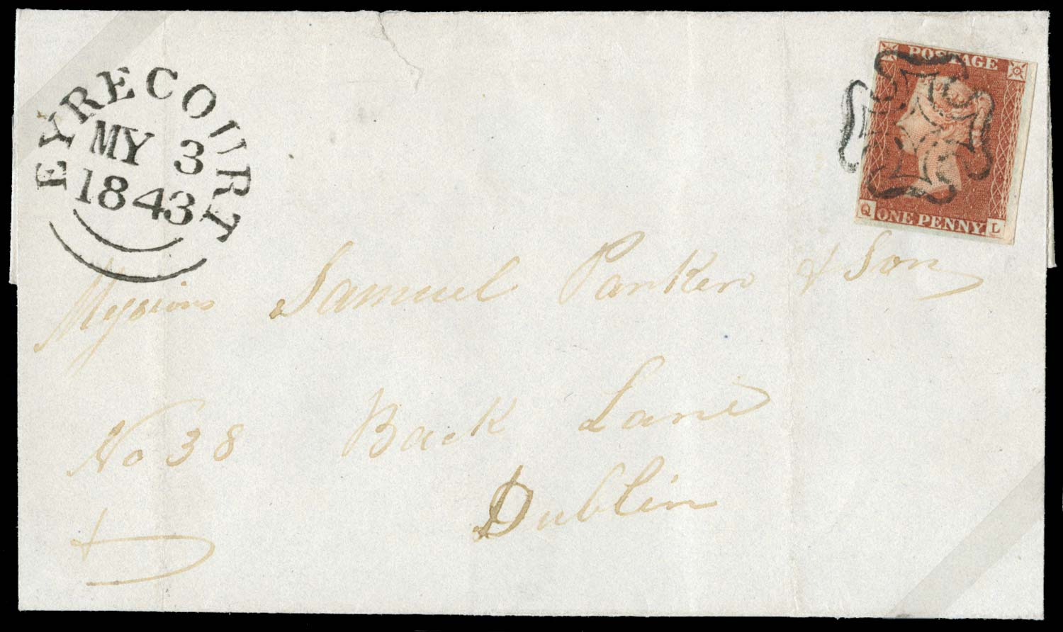 GB 1841  SG8 Pl.21 Cover
