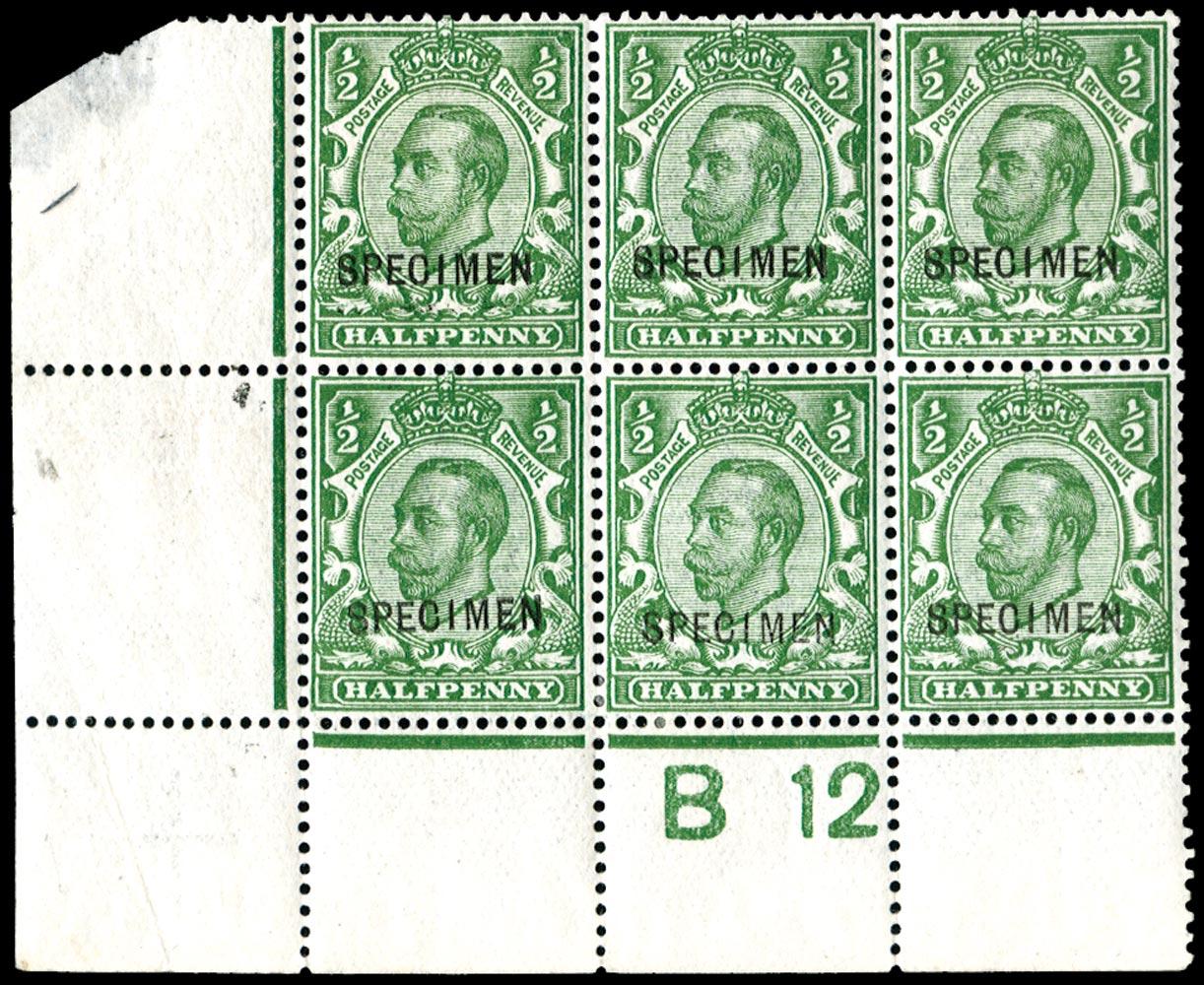 GB 1912  SG339s Specimen