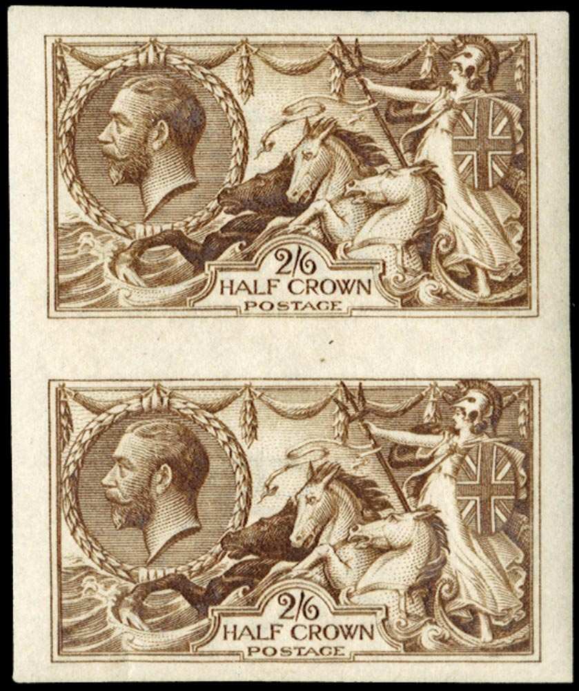 GB 1915  SG405var Colour Trial Imperforate in