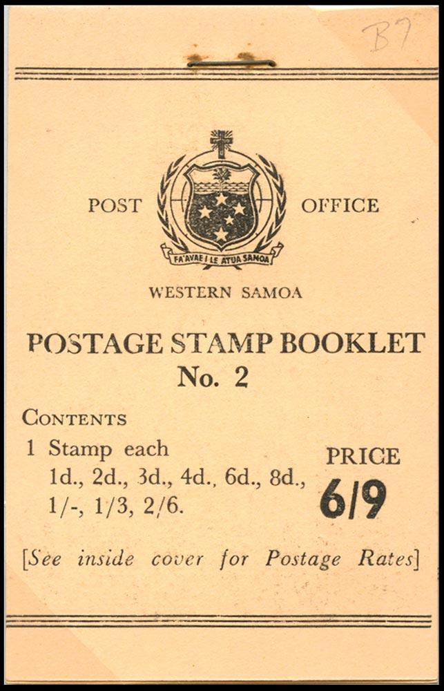 SAMOA 1962  SGSB7 Booklet